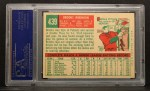 1959 Topps #439   Brooks Robinson Back Thumbnail