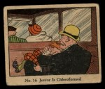 1931 Johnson Candy Dick Tracy #16   Junior is Chloroformed Front Thumbnail