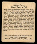 1931 Johnson Candy Dick Tracy #75  Tracy Takes Fall  Back Thumbnail