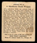 1931 Johnson Candy Dick Tracy #94  Murderous Death Weapon  Back Thumbnail