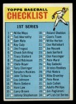 1966 Topps #34   Checklist 1 Front Thumbnail