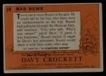 1956 Topps Davy Crockett #59 ORG Bad News   Back Thumbnail
