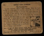 1941 Gum Inc. Uncle Sam Home Defense #71  The Bombardier  Back Thumbnail