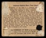 1938 Gum Inc. Horrors of War #57   Japanese Soldiers Burn Their Dead Back Thumbnail