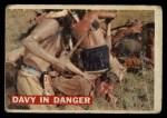 1956 Topps Davy Crockett #22 ORG Davy in Danger   Front Thumbnail
