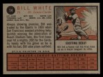 1962 Topps #14  Bill White  Back Thumbnail