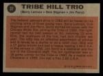1962 Topps #37  Tribe Hill Trio  -  Jim Perry / Dick Stigman / Barry Latman Back Thumbnail