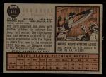 1962 Topps #419  Bob Bruce  Back Thumbnail
