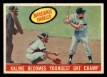 1959 Topps #463  Kaline Becomes Youngest Bat Champ  -  Al Kaline Front Thumbnail