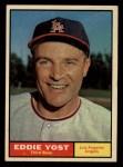 1961 Topps #413  Eddie Yost  Front Thumbnail