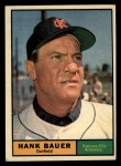 1961 Topps #398   Hank Bauer Front Thumbnail