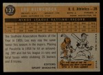 1960 Topps #137  Rookies  -  Lou Klimchock Back Thumbnail