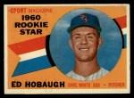 1960 Topps #131  Rookie Stars  -  Ed Hobaugh Front Thumbnail