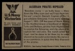 1954 Bowman U.S. Navy Victories #37   Algerian Pirates Repelled Back Thumbnail