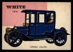 1953 Topps World on Wheels #17  White Opera Coupe 1910  Front Thumbnail