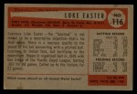 1954 Bowman #116   Luke Easter Back Thumbnail