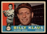 1960 Topps #406   Billy Klaus Front Thumbnail