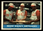 1961 Topps #25   -  Vada Pinson / Gus Bell / Frank Robinson Reds Heavy Artillery Front Thumbnail