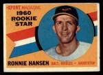 1960 Topps #127  Rookies  -  Ron Hansen Front Thumbnail