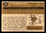 1960 Topps #33   Tom Morgan Back Thumbnail