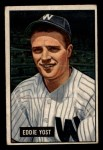 1951 Bowman #41   Eddie Yost Front Thumbnail