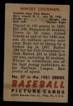 1951 Bowman #37  Whitey Lockman  Back Thumbnail