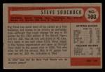 1954 Bowman #103 COR  Steve Souchock Back Thumbnail
