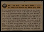 1960 Topps #456  Red Sox Coaches  -  Rudy York / Billy Herman / Sal Maglie / Del Baker Back Thumbnail
