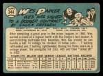 1965 Topps #344   Wes Parker Back Thumbnail