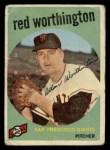 1959 Topps #28   Red Worthington Front Thumbnail