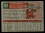 1959 Topps #496  Wayne Terwilliger  Back Thumbnail