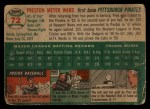 1954 Topps #72   Preston Ward Back Thumbnail