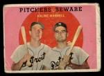 1959 Topps #34  Pitchers Beware  -  Al Kaline / Charley Maxwell Front Thumbnail