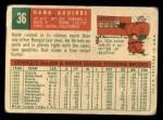 1959 Topps #36  Hank Aguirre  Back Thumbnail