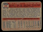1957 Topps #49   Daryl Spencer Back Thumbnail