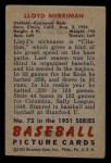 1951 Bowman #72  Lloyd Merriman  Back Thumbnail