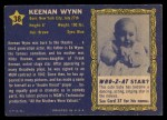 1953 Topps Who-Z-At Star #38   Keenan Wynn Back Thumbnail