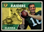 1968 Topps #142   George Blanda Front Thumbnail