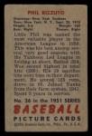 1951 Bowman #26   Phil Rizzuto Back Thumbnail