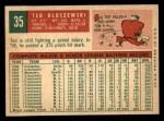 1959 Topps #35   Ted Kluszewski Back Thumbnail