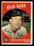 1959 Topps #498   Dick Hyde Front Thumbnail