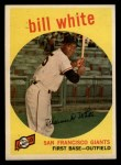 1959 Topps #359   Bill White Front Thumbnail