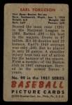 1951 Bowman #99  Earl Torgeson  Back Thumbnail