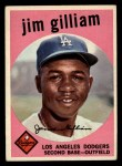 1959 Topps #306   Jim Gilliam Front Thumbnail
