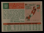 1959 Topps #137  Rookies  -  Dick Ricketts Back Thumbnail