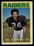 1972 Topps #28  Willie Brown  Front Thumbnail