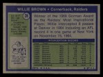 1972 Topps #28  Willie Brown  Back Thumbnail