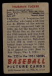 1951 Bowman #222   Thurman Tucker Back Thumbnail