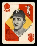 1951 Topps Blue Back #25   Sam Mele Front Thumbnail
