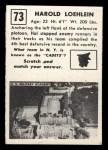 1951 Topps #73   Harold Loehlein Back Thumbnail